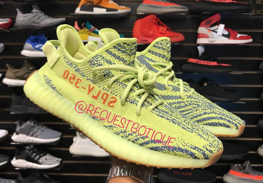 e544cf0ac85 Adidas Yeezy Boost 350 V2 Color  Semi Frozen Yellow Raw Steel-Red Style  Code  B37572 Release Date  November 18
