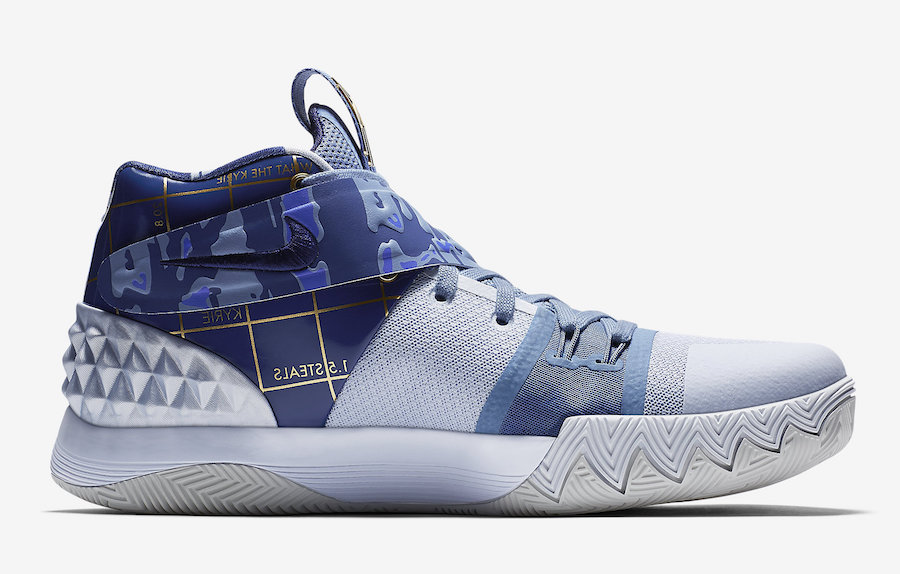 Official Images Of The Nike Kyrie S1 Hybrid Blue   Gold   Release ... 82587c2072e1
